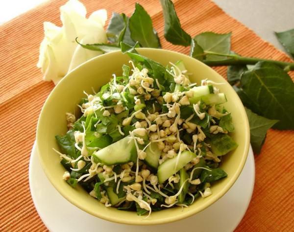 блюдо из зеленой гречки
