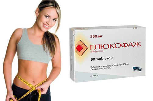девушка и таблетки глюкофаж