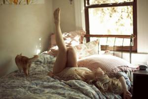 девушка проснулась