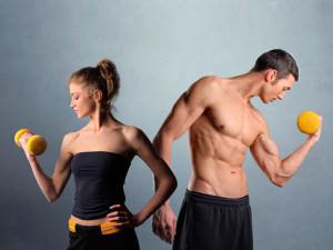 спортивные мужчина и девушка