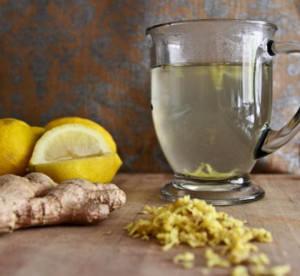вода, лимон и имбирь