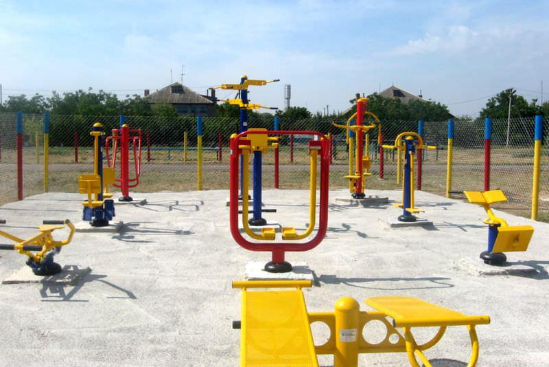 Пример уличной спортплощадки