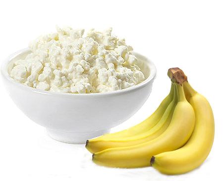 бананы и творог