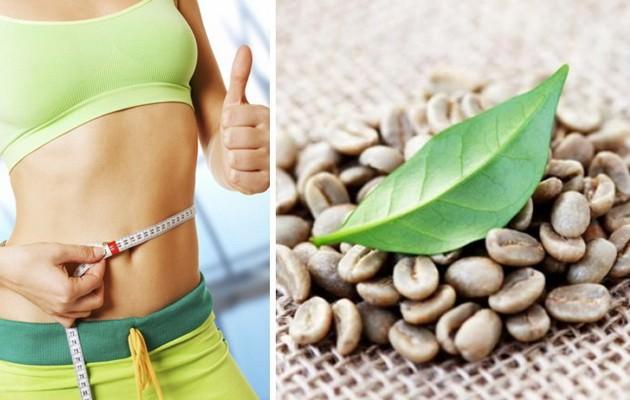 девушка и зеленый кофе