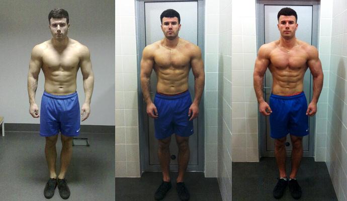 до и после спортивной диеты