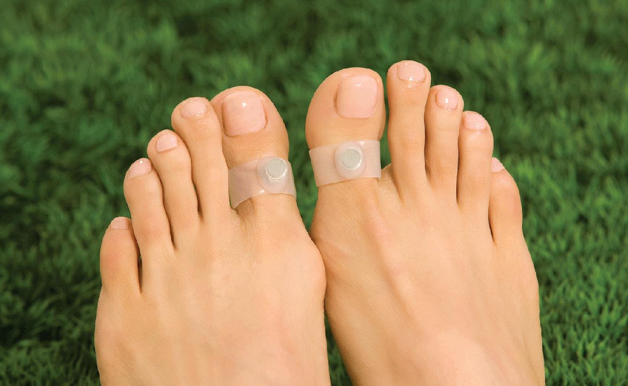 магниты на пальцах ног