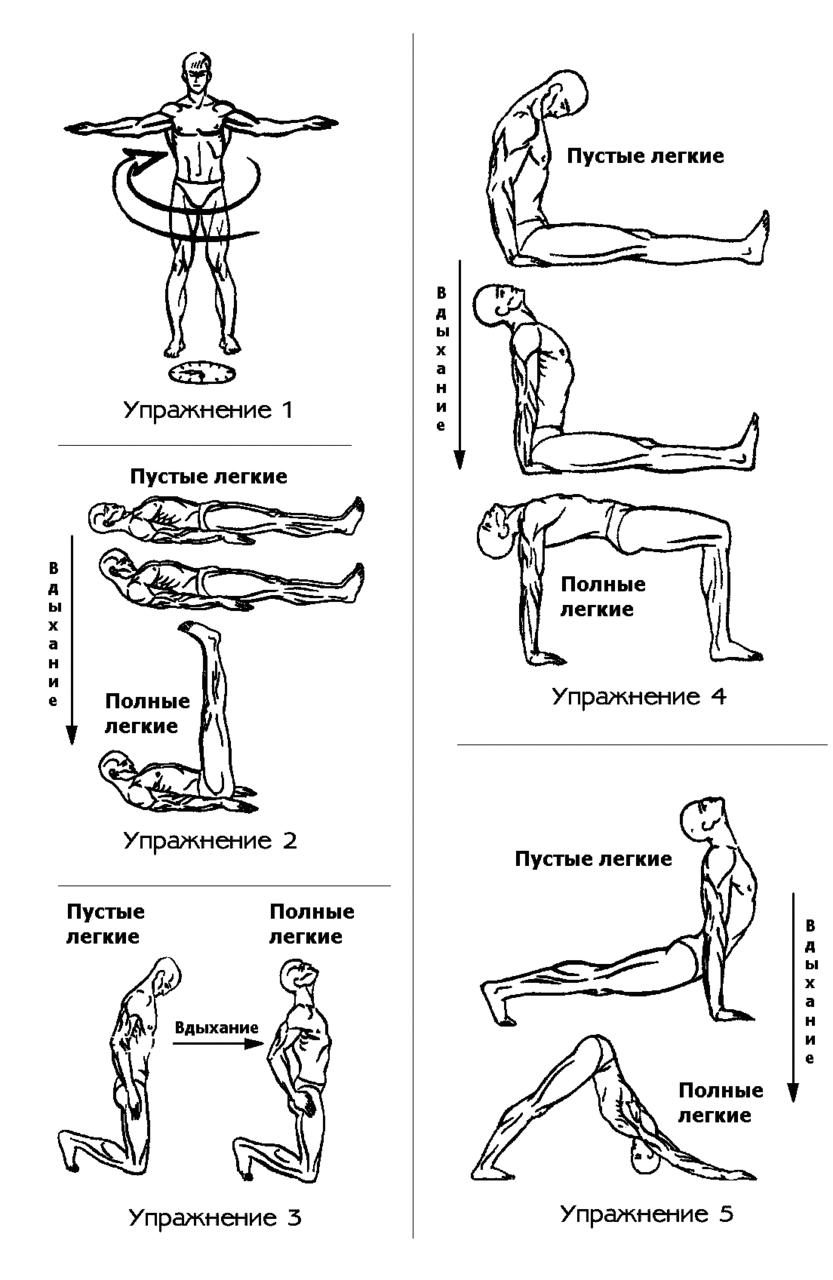 упражнения пять тибетских жемчужин