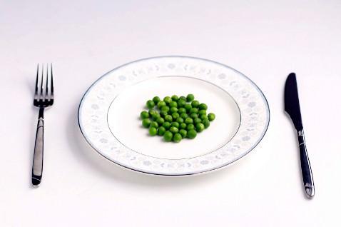 тарелка с горохом